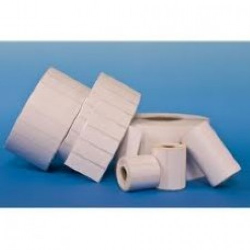 "75mmx25mm Blank White Paper Labels, 1""Core, 1 Roll - 2000 Pcs."
