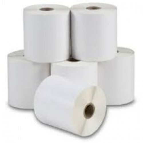 "75mmx50mm Blank White Paper Labels, 1""Core, 1 Roll - 1000 Pcs."