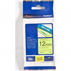 12mmx8mtr--TZe133 Blue on Clear Brother Labels