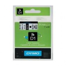 24mm X 7m DYMO D1 Tape Black on Clear