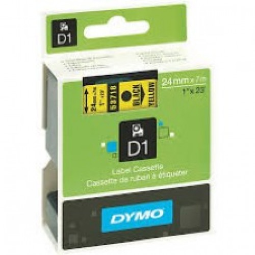 24mm X 7, DYMO D1 Tape Black on Yellow