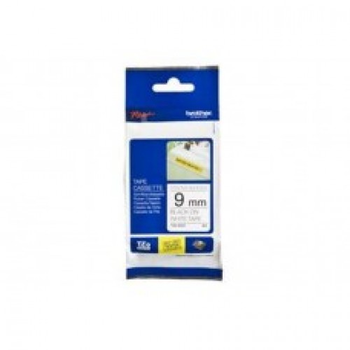 Brother TZe S221 strong adhesive  p-touch label  9mm black on white