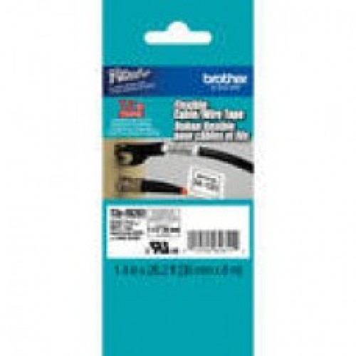 Brother Tze-FX261 Flexible Id laminated label 36mmx8mtrs Black on white