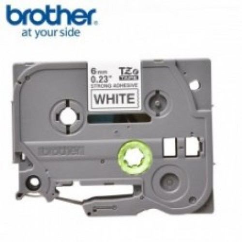 Brother TZe S211 strong adhesive  p-touch label  6mm black on white